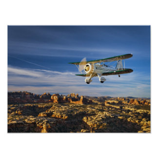 Waco Over Moab Poster