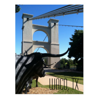Waco Suspension Bridge Postcard