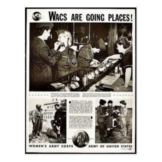 Wacs Are Going Places Post Cards