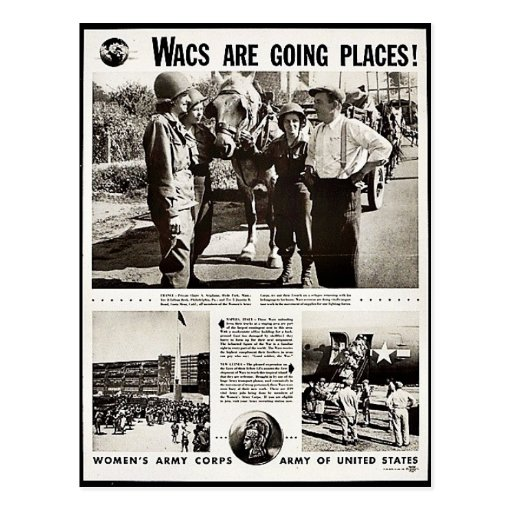 Wacs Are Going Places! Postcards