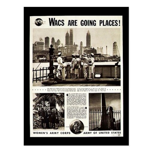Wacs Are Going Places! Postcard