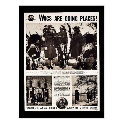 Wacs Are Going Places! Post Cards