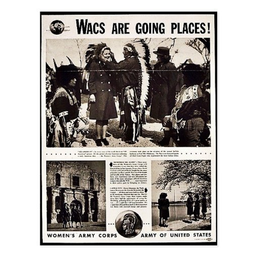 Wacs Are Going Places! Post Card