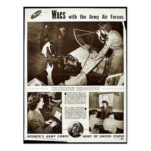 Wacs With The Army Air Forces Postcard