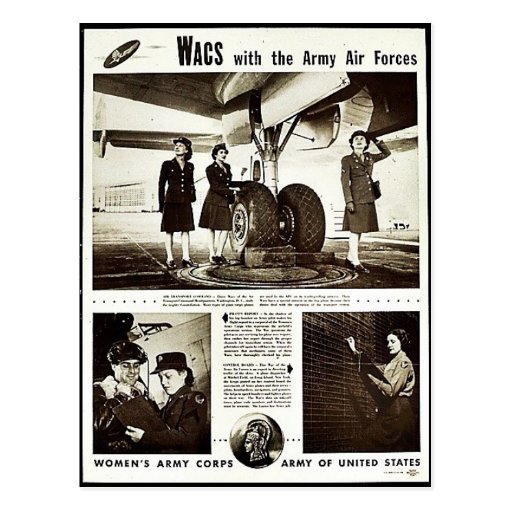 Wacs With The Army Air Forces Post Card