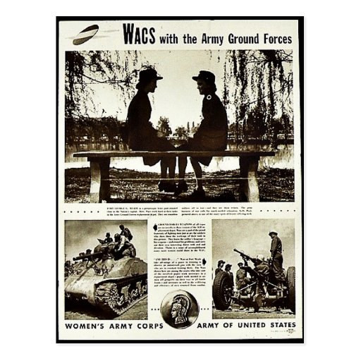 Wacs With The Army Ground Forces Post Cards