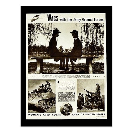 Wacs With The Army Ground Forces Postcard