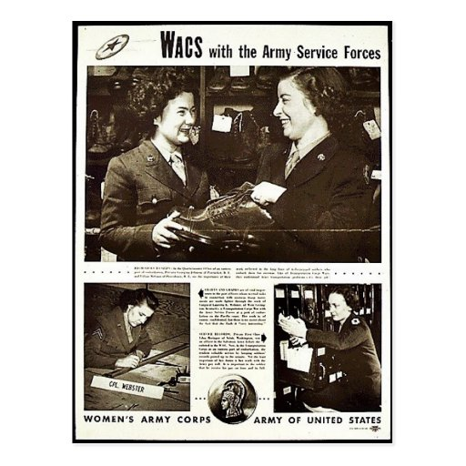 Wacs With The Army Service Forces Post Cards