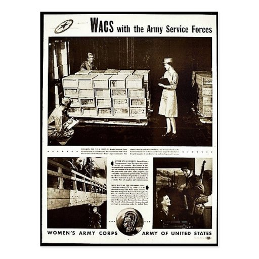 Wacs With The Army Service Forces Postcard