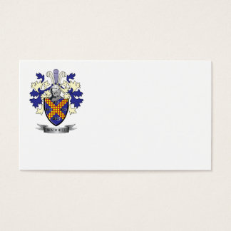 Waddell Family Crest Coat of Arms Business Card