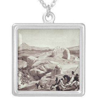 Wadela Plateau , engraved by J.Ferguson Silver Plated Necklace