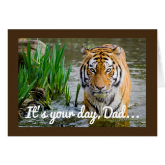 Wading Tiger Father's Day Card