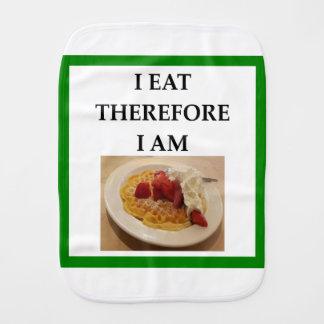 waffle burp cloth