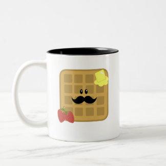 Waffle Man Good Morning! Two-Tone Coffee Mug