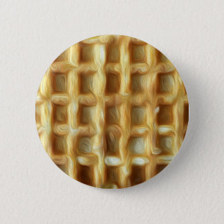 Waffle oil paint effect 2 inch round button
