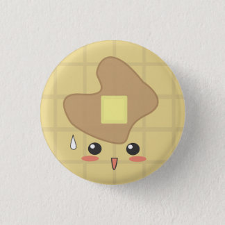 Waffle - Waffle 1 Inch Round Button