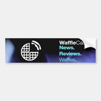 WaffleCast Official Bumper Sticker! Bumper Sticker