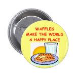 waffles 2 inch round button