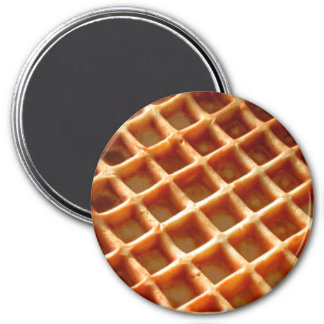 Waffles 3 Inch Round Magnet
