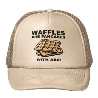 Waffles Pancakes With Abs Funny Ball Cap Hat