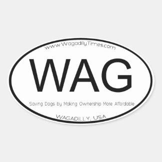 WAG Location decal bumper sticker