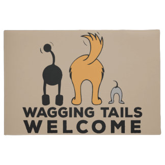 Wagging Tails Welcome Door Mat