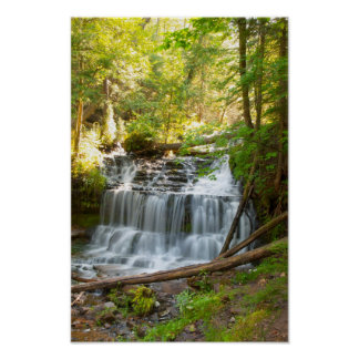 Wagner Falls, Michigan Poster