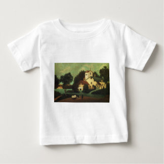 Wagon in Front of the Mill by Henri Rousseau Baby T-Shirt