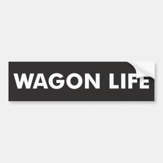 Wagon Life Bumper Sticker