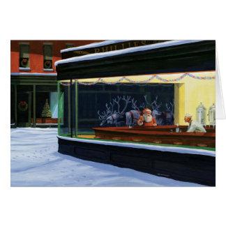 Wagon-restaurant de Noël Carte De Vœux