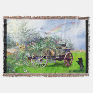 Wagon Throw Blanket