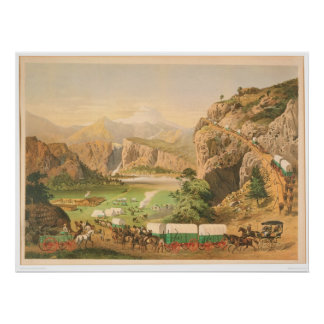 Wagon Trains arriving at Outpost (1838A) Poster