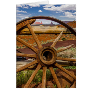 Wagon wheel close up, Arizona Card