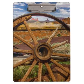 Wagon wheel close up, Arizona Clipboard
