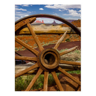 Wagon wheel close up, Arizona Postcard