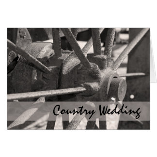 Wagon Wheel Country Wedding Save the Date Card