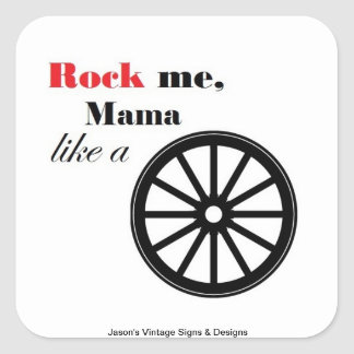 Wagon Wheel Decal Square Sticker