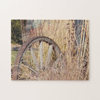 Wagon Wheel Jigsaw Puzzle