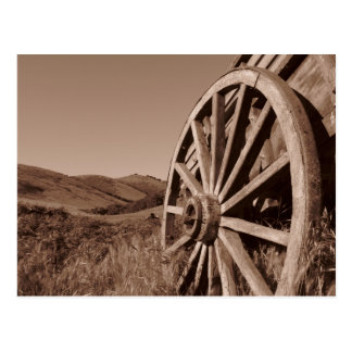 Wagon Wheel Postcard