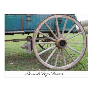 Wagon Wheel Round Top, Texas Postcard