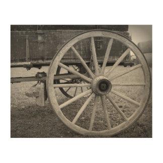 Wagon Wheel Wood Wall Art