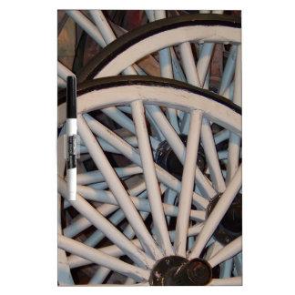 Wagon Wheels Dry-Erase Whiteboard