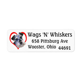 """Wags 'N' Whiskers"" Return Address Label"