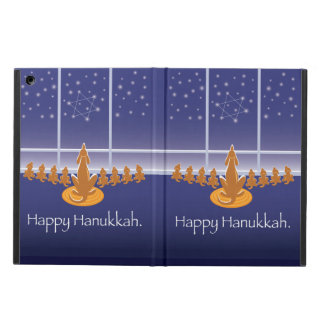 WagsToWishes_Menorah Dogs_Happy Hanukkah iPad Air Cover