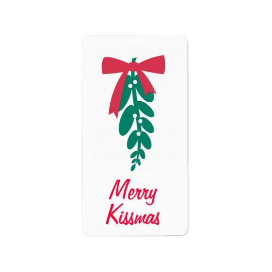 WagToWishes _Mistletoe Merry Kissmas! gift tag