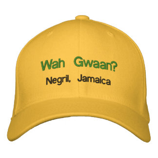 Wah Gwaan? Negril, Jamaica Embroidered Hat