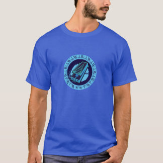 Wah Wah Pedal Lite Blue Oval T-Shirt