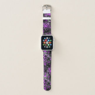 Wahine Lace Hawaiian Orchid Floral in Purple Apple Watch Band