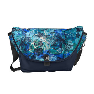 Wahine Lace Hawaiian Orchid Messenger Bag