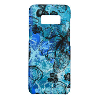 Wahine Lace Hawaiian Orchid Turquoise Case-Mate Samsung Galaxy S8 Case